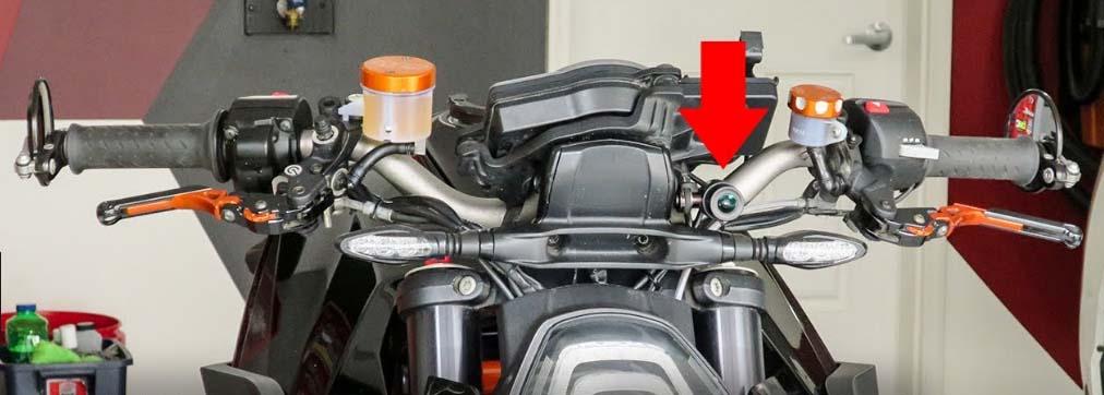 telecamera nascosta moto